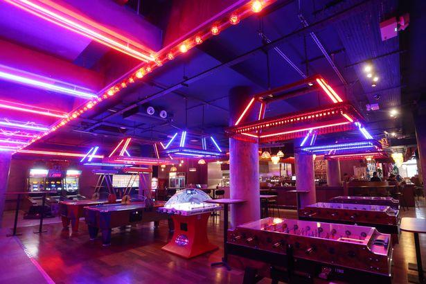 Nottingham hidden bar penny lane cocktail bar with an arcade