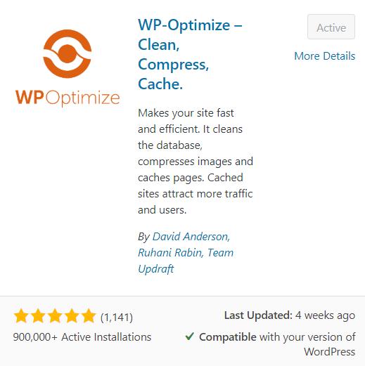 WPoptimise plugin