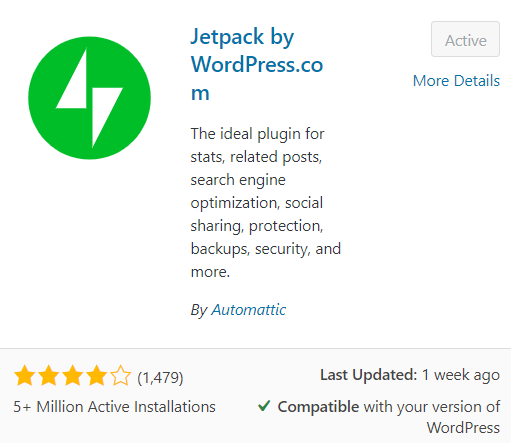 What are the best FREE WordPress Plugins for Bloggers - jetpack