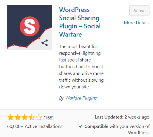 What are the best FREE WordPress Plugins for Bloggers - social warfare