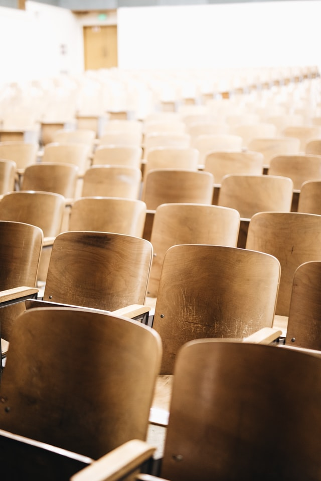 A lecture theatre for freshers
