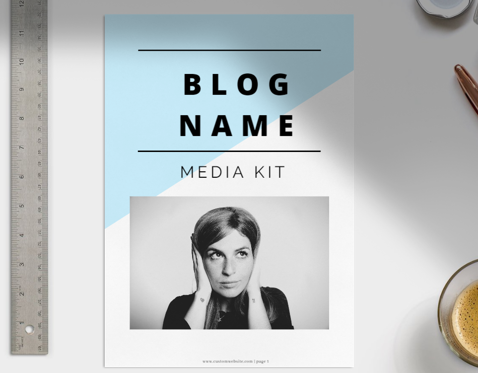 Influencer Media Kit - 4 page media kit template for free
