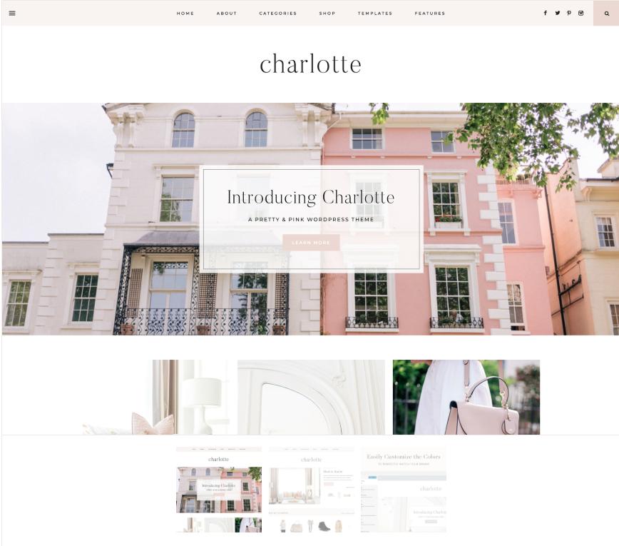 Charlotte word press theme - Best WordPress themes for female entrepreneurs