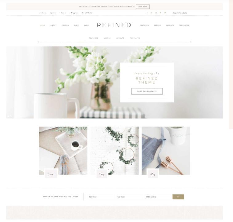 Refined Theme by Restored 316 - Best WordPress themes for female entrepreneurs