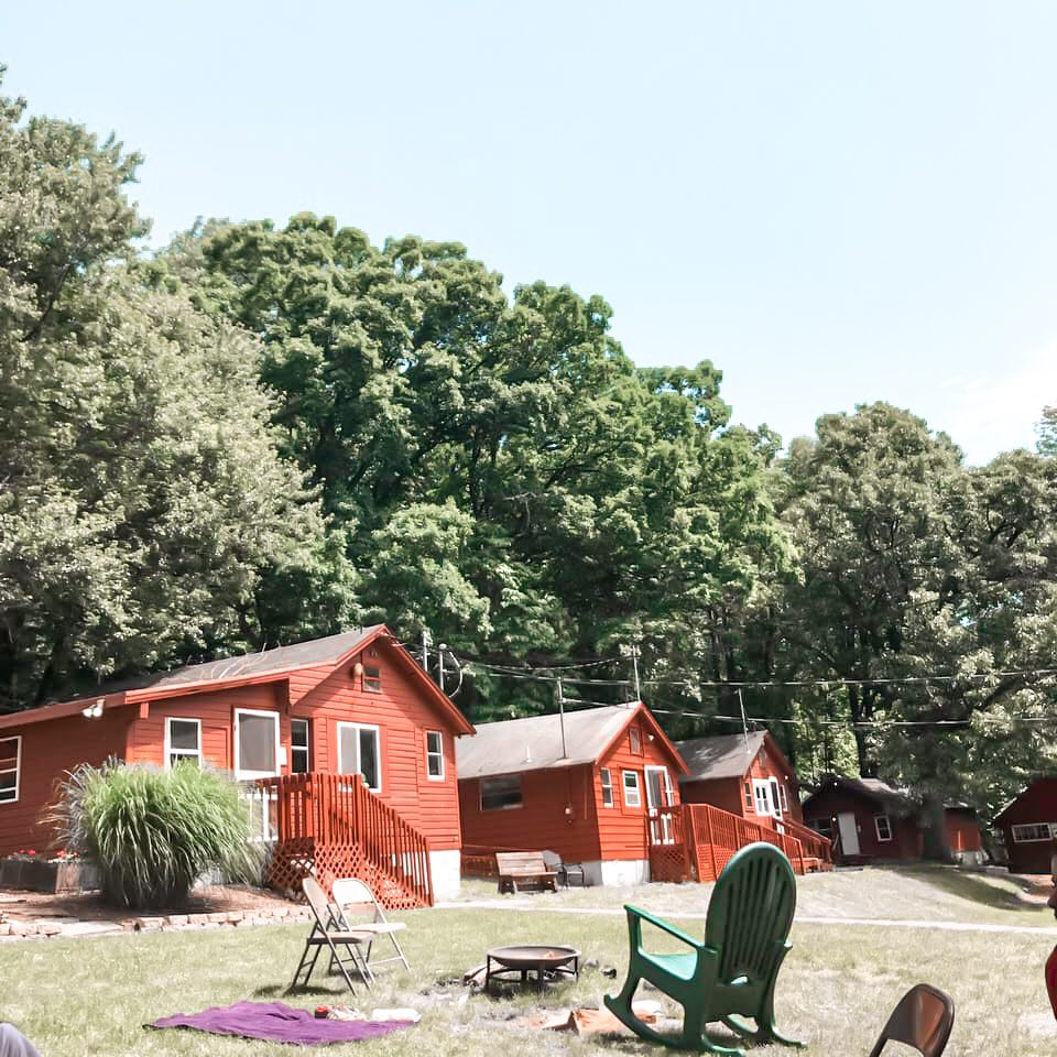 USA summer camp cabins