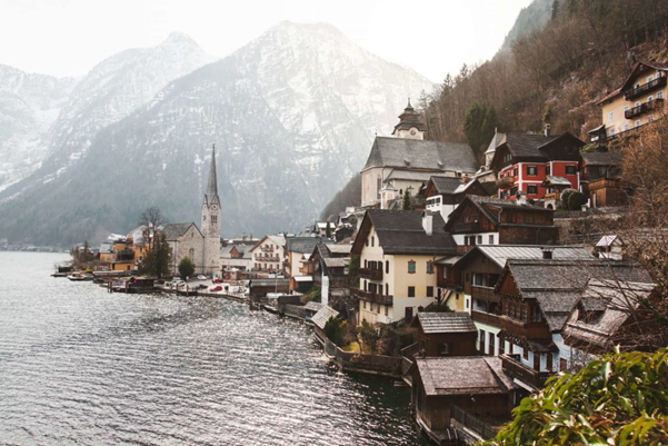 Another lake-side destination making this list is the town of Hallstatt in Austria. Winter is probably the best time of year to visit so that you get to see it in all its snowy glory!