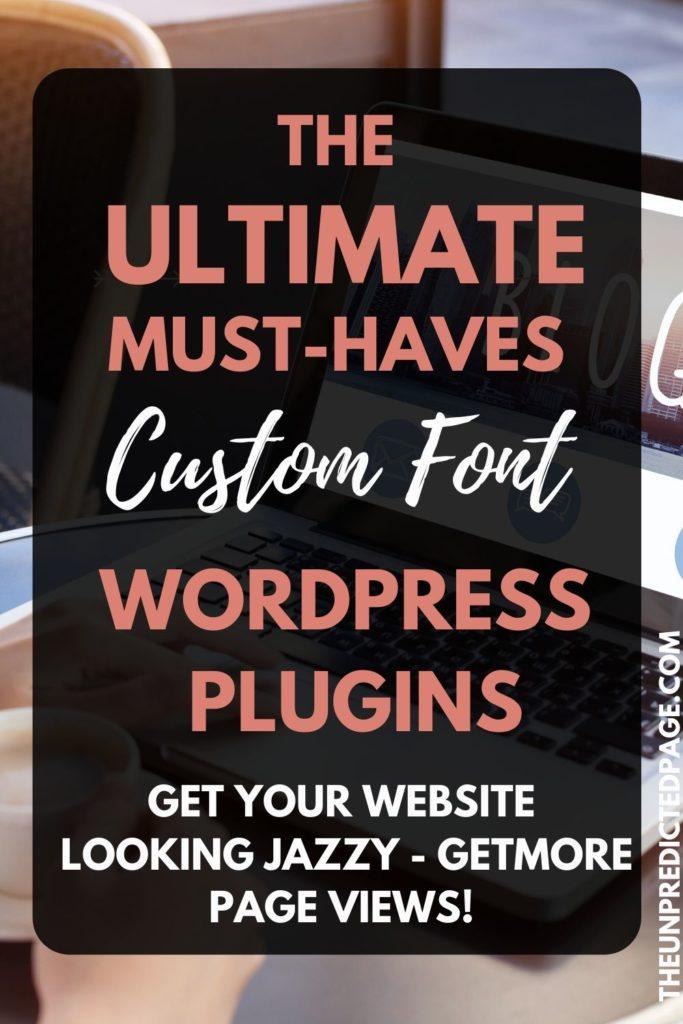 The Ultimate must-have custom fonts WordPress Plugins