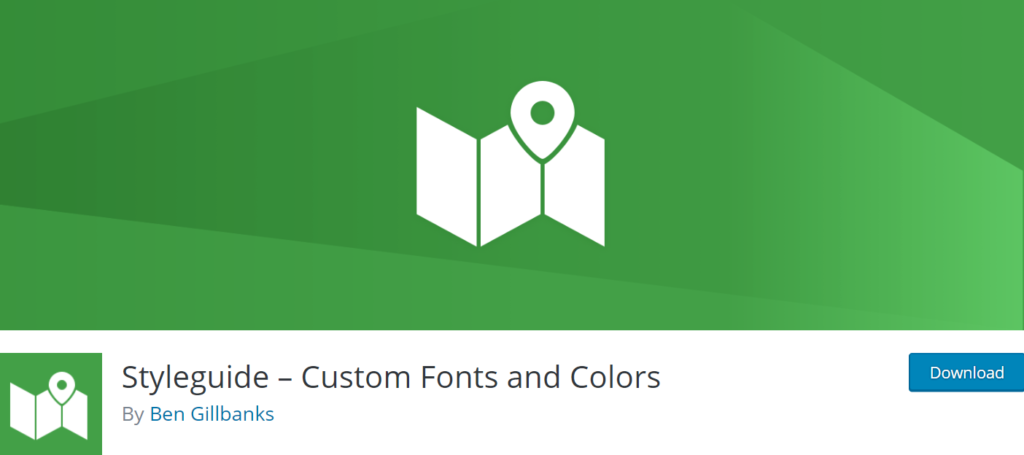 Styleguide – Custom Fonts and Colours WordPress Plugins.