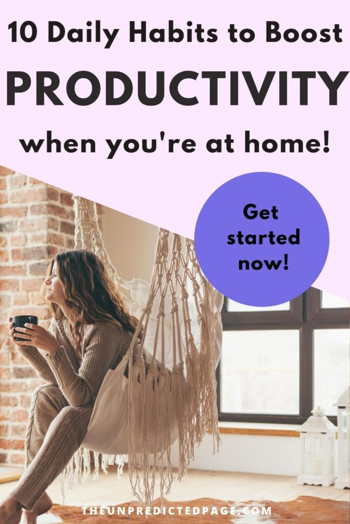 be more productive at home