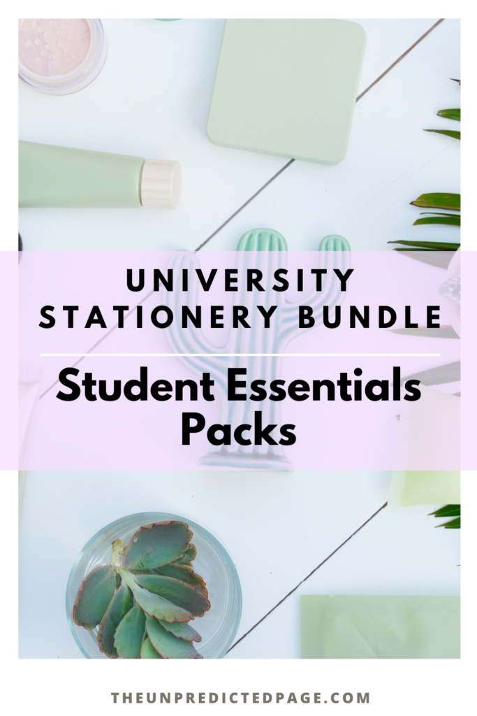 What stationery do you need for University