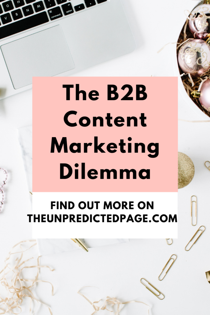 B2B content marketing is a completely new ball game. You have copywriters in one ear and SEO Executives in the other. Who's right? I hate to say it, but they both are.