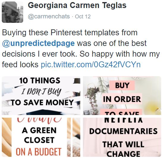 pinterest templates review
