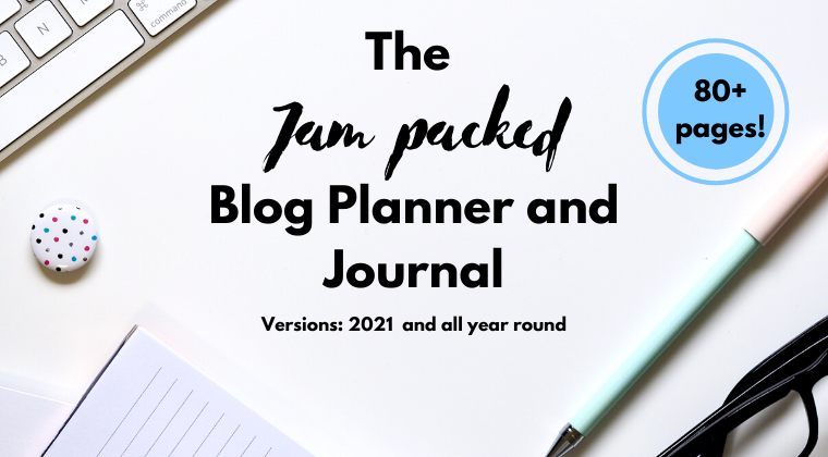 If you want an online planner that you can edit then check out The Jam-Packed Bloggers Planner and Journal!
