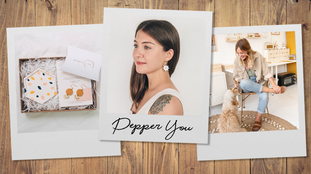 Born from a love of creating, Pepper You is an independent brand selling lightweight clay and brass jewellery from their studio in Brighton