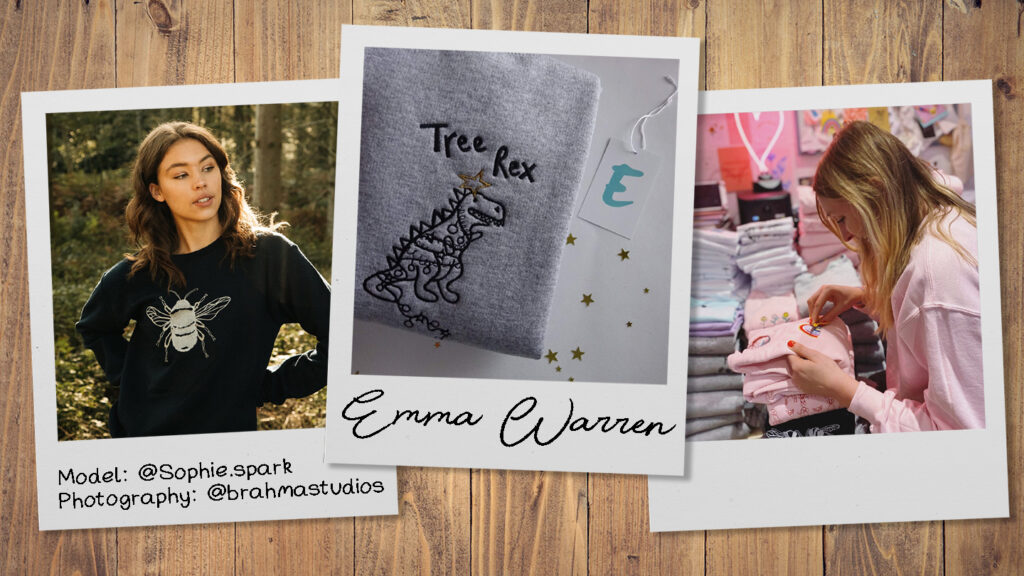 It's easy to fall in love with the elaborately detailed embroidered designs on offer from independent fashion brand Emma Warren