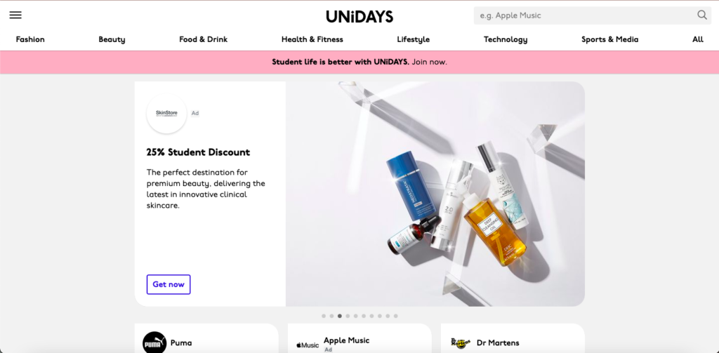 Unidays is your one-stop-shop for tons of college student discounts online!