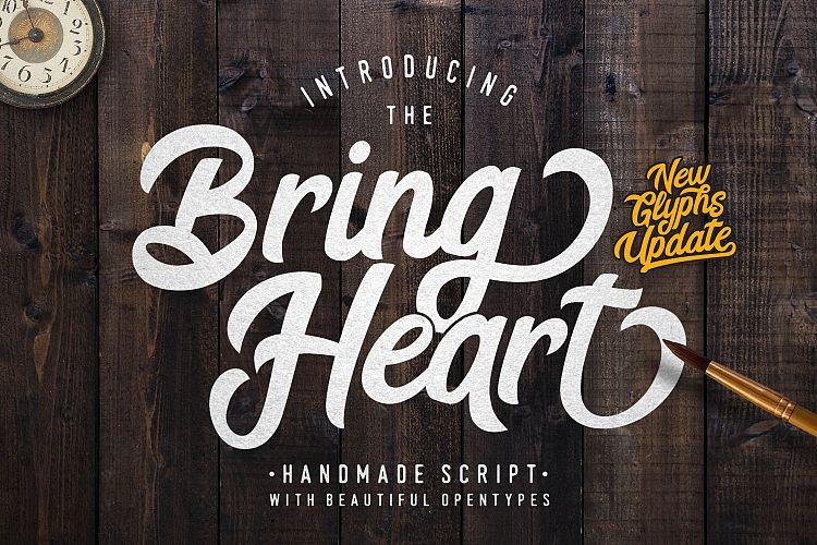 bring heart font